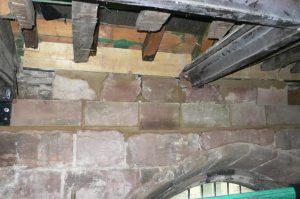 North stonework replacing rotten timber wall plate