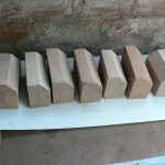 New stone cill sections (for South side threshold)