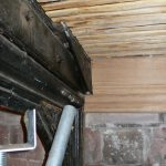 Ceiling repairs to North aisle—New chestnut laths to ceiling. New oak cornice