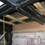 New timber ceiling joists