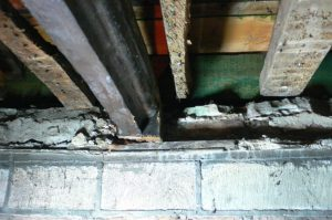 Timber repairs / support required to beam end