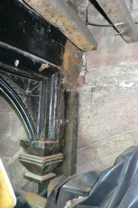North side corbel - Temporary support - Gap due to movement
