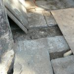 New concrete threshold detail (base for new stone cill below new South Porch 'door')