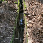 Trench for new water supply