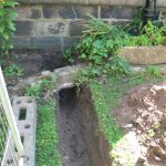 Draining trench at West side of South Porch