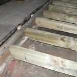 Central aisle-new timber joists